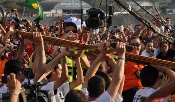 """Evento já foi um prelúdio do que será a JMJ brasileira: alegre,  festiva. """"Já deu pra ver o clima do que será a Jornada do Rio"""",  explicou."""